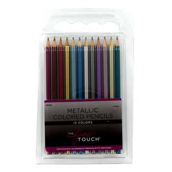 The Fine Touch Metallic Colored Pencils - 12 Piece Set